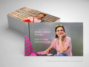 Personal-Design Visitenkarten für Meike Lohner - Wenckesweg