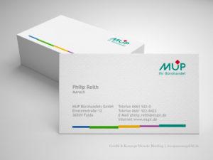 Corporate Design - Visitenkarten für MUP - Wenckesweg