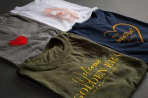bedruckte T-Shirts mit verschiedenen Motiven für mehr Achtsamkeit von Wenckesweg