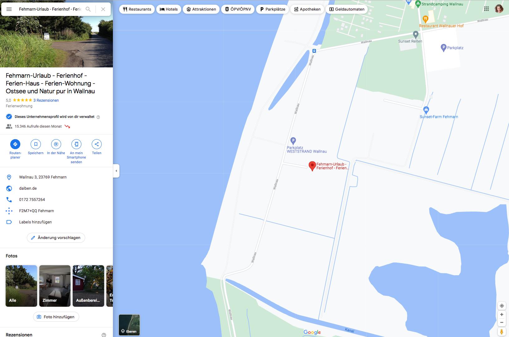 Eintrag-bei-google_4Ferienhof-Dalben_by-Wenckesweg