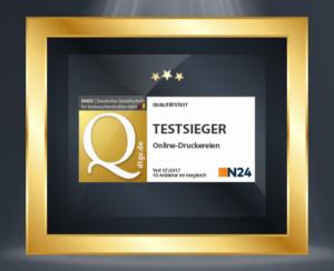 gekauftes Zertifikat Testsieger von NTV